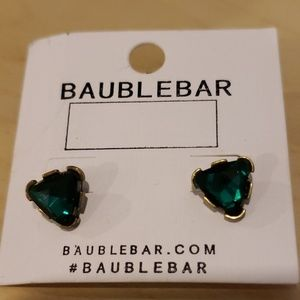 Baublebar emerald earrings